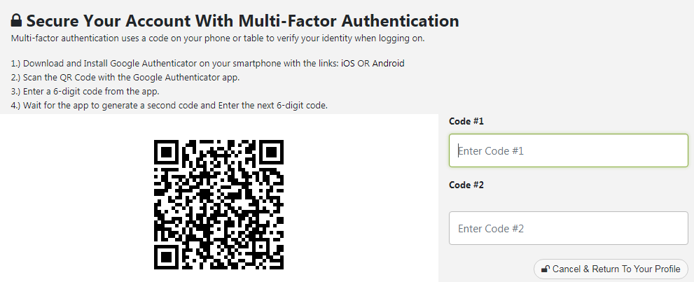 Multi-Factor Authentication (MFA) using Google Authenticator